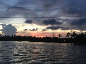 Coucher sol backwaters